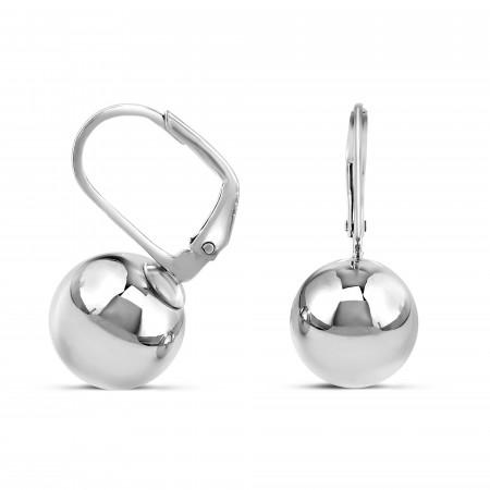 Boucles d'oreilles dormeuses sphères 10mm