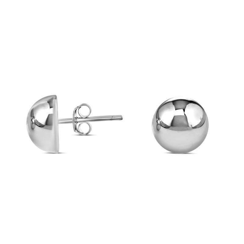 Boucle d'oreille demi sphère 10mm