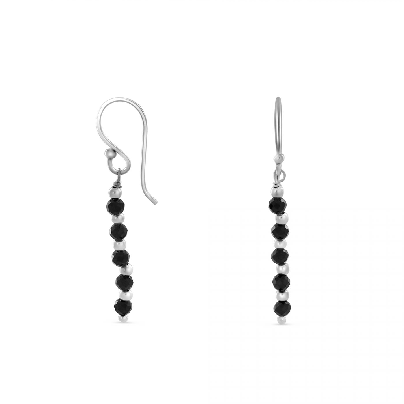 oval rocks black product jewelry earrings sterling spinel glitzy silver tgw watches