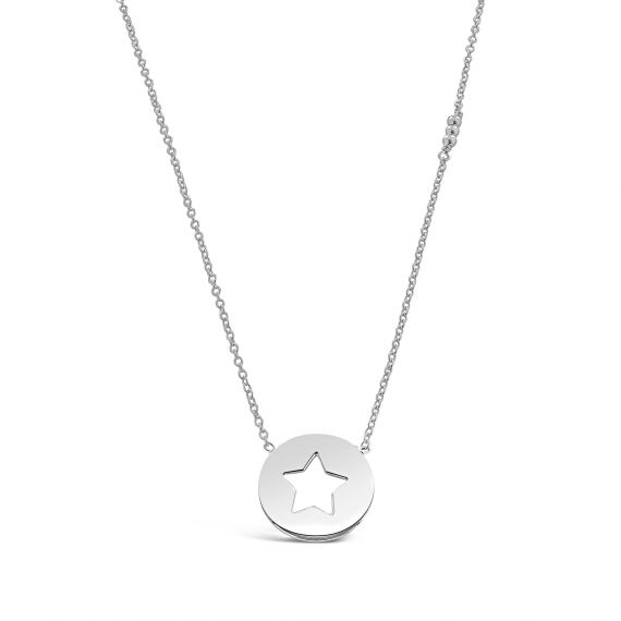 Sterling silver pastille star necklace