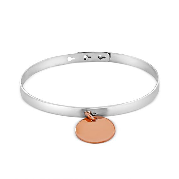 Sterling silver and aglaé pink vermeil bangle
