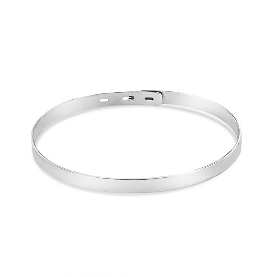 Smooth silver bangle