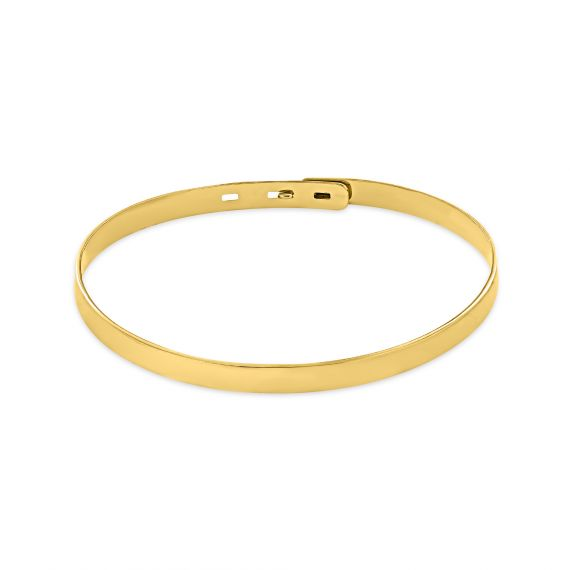 Smooth yellow gold plated bangle