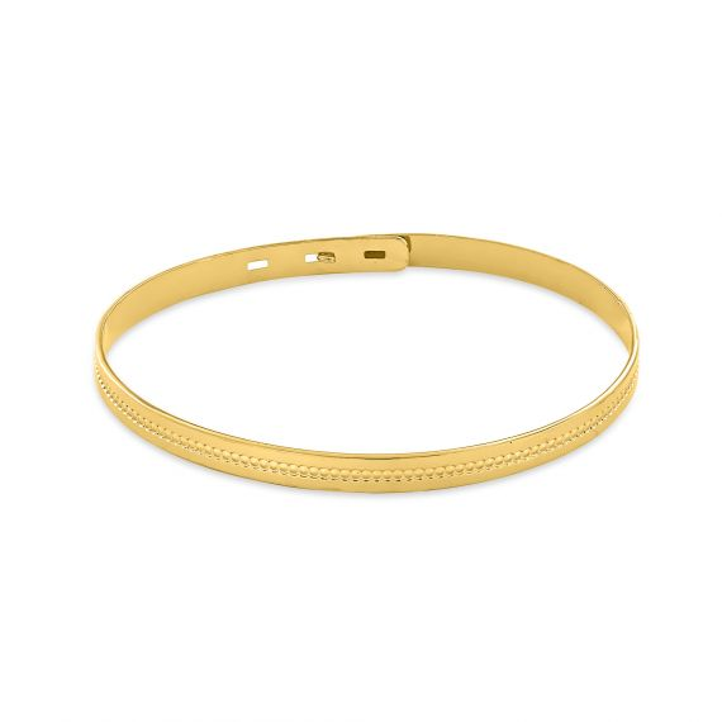Yellow gold plated bangle