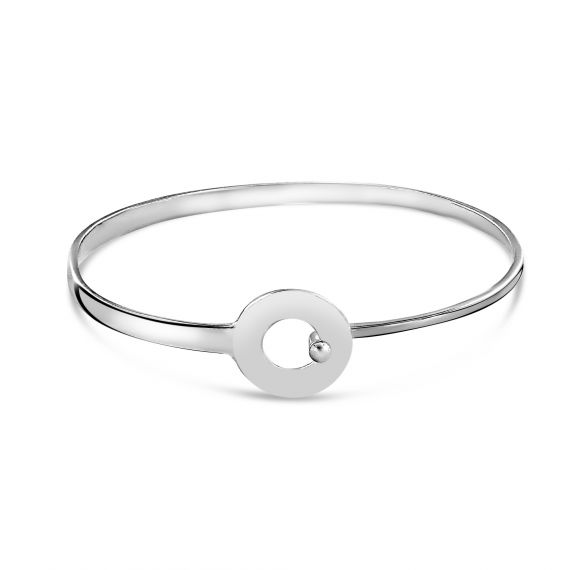 Sterling silver loop bangle