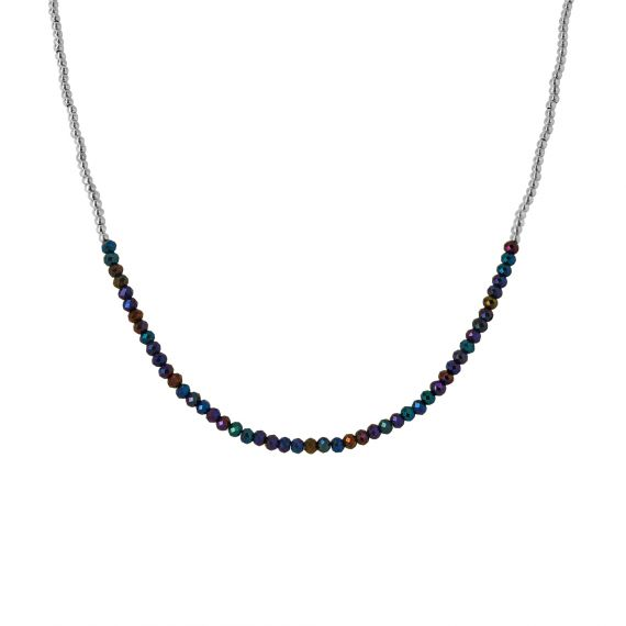 Coralie Blue Spinel sterling silver necklace