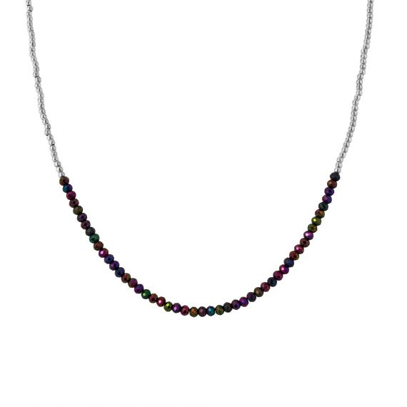 Coralie Peppered Spinel sterling silver necklace
