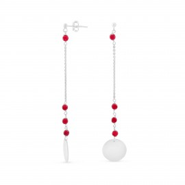 Aglaé red agate earrings
