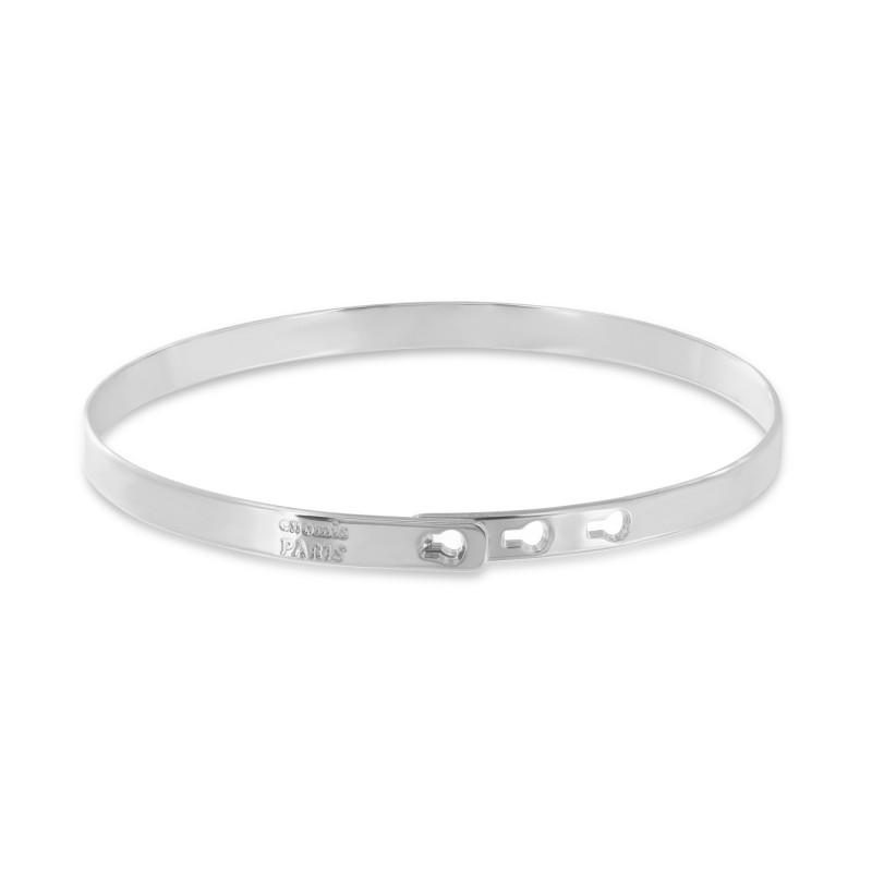 Smooth silver bangle