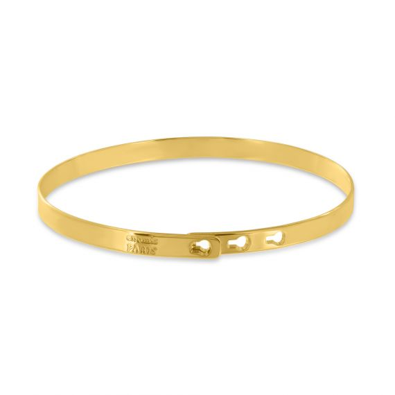 Yellow gold plated we love you Mom bangle