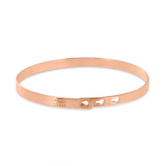 Smooth pink gold plated bangle