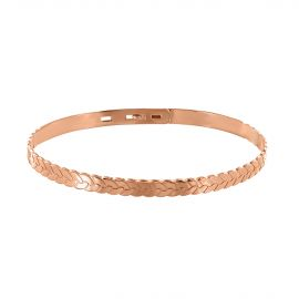 Pink gold plated bangles