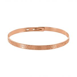 Pink gold plated nenuphar bangle