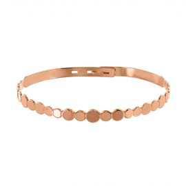 Pink gold plated circles bangle