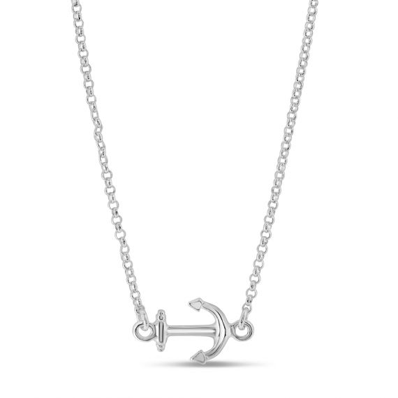 Collier Argent 925 ancre marine