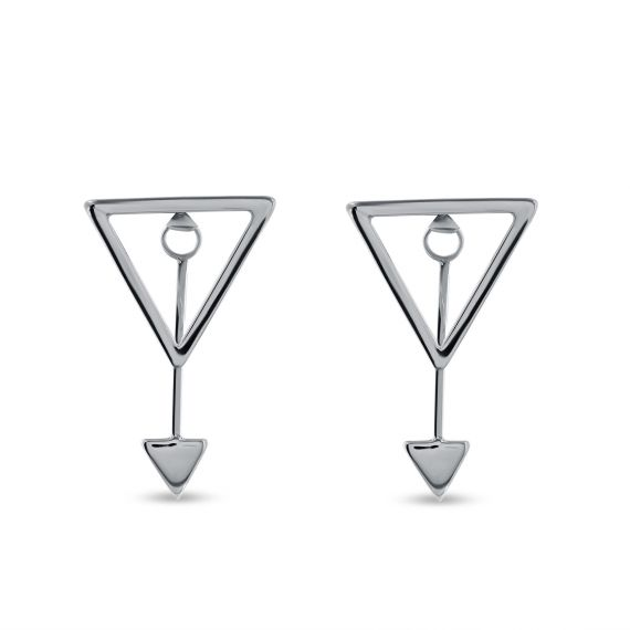 Sterling silver triangles earrings