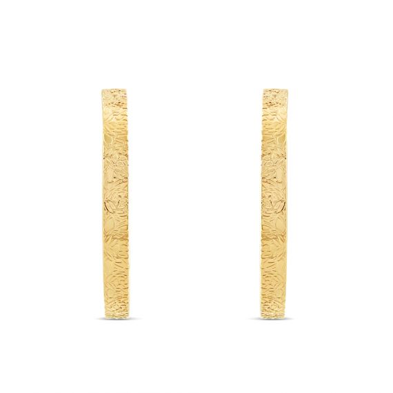 Yellow gold plated nenuphar earrings