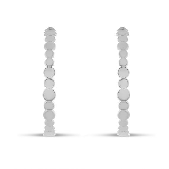 Sterling silver creoles rounds earings