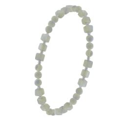 Bracelet élastique Argent 925 nacre 4 millimètres