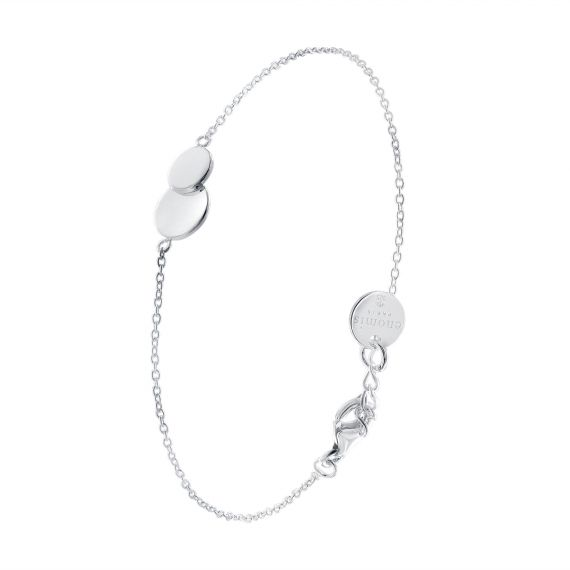 Sterling silver double circles bracelet