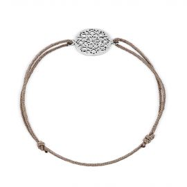 Sterling silver lace pattern thread bracelet