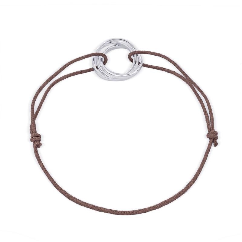 Bracelet cordon motif Argent 925
