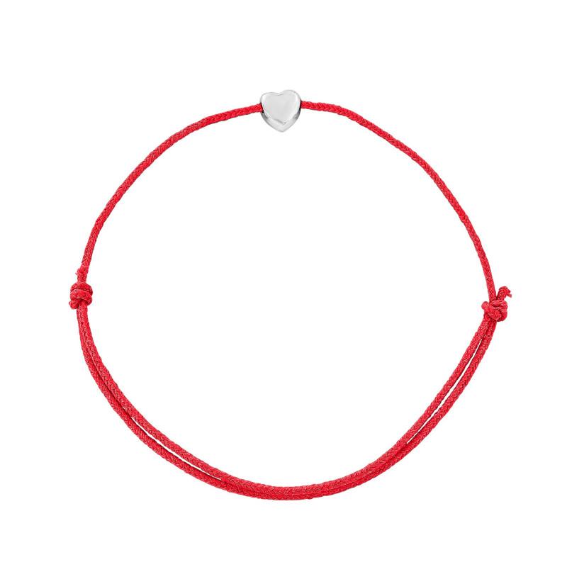 Bracelet cordon un motif coeur Argent 925
