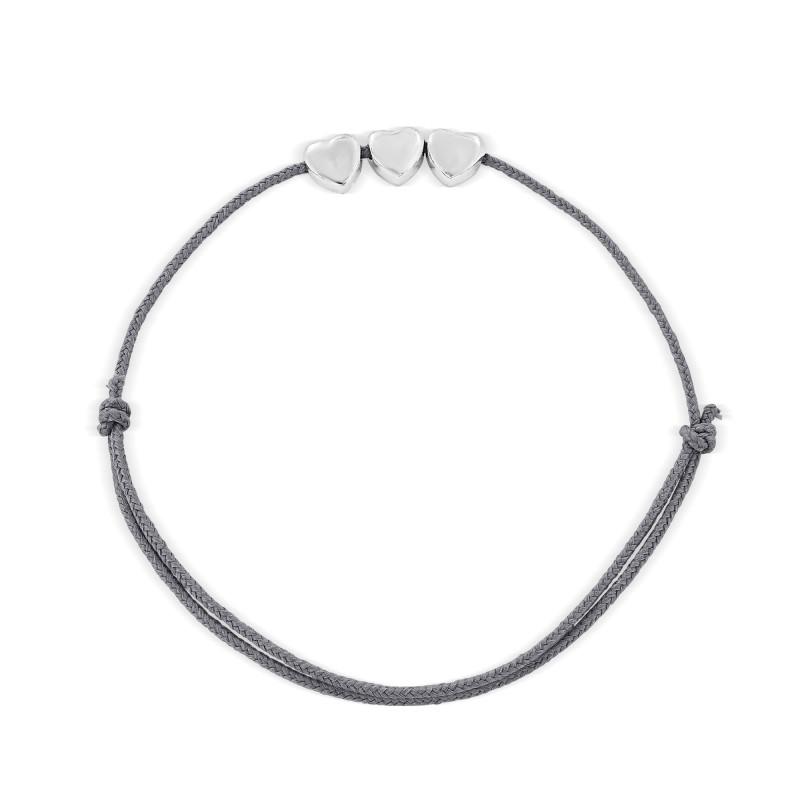 Sterling silver pattern thread bracelet