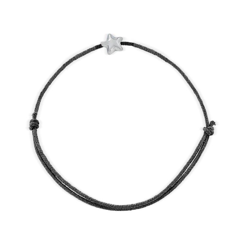 Bracelet cordon motif étoile Argent 925
