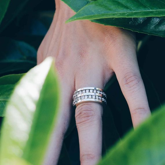 Silver Chiara Meditation ring
