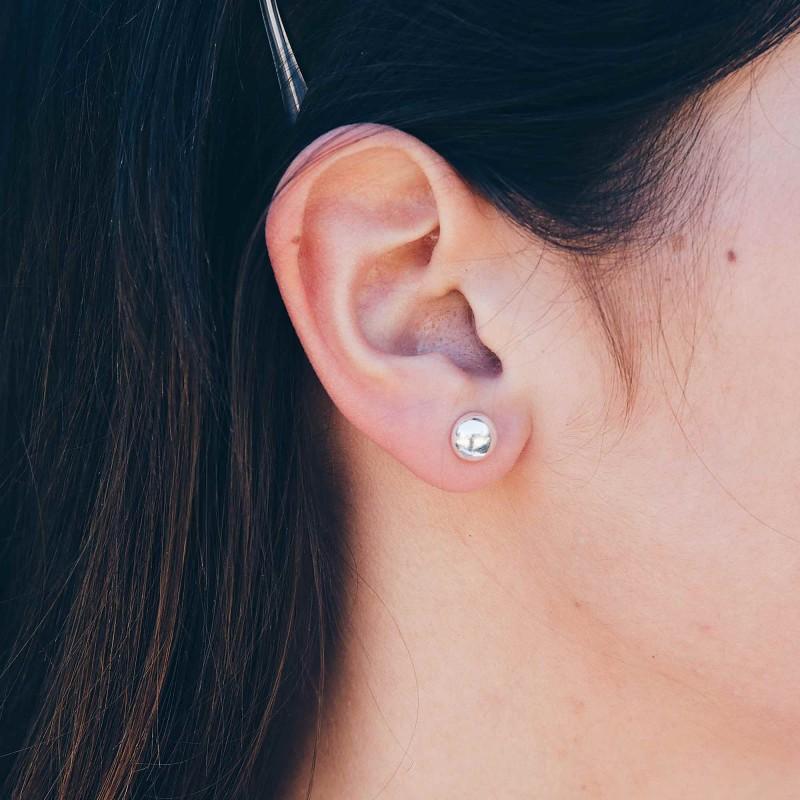 Boucles d'oreilles demi-sphères 8mm