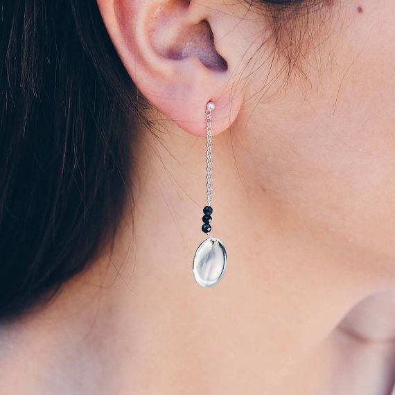 Aglaé Black Spinel earrings