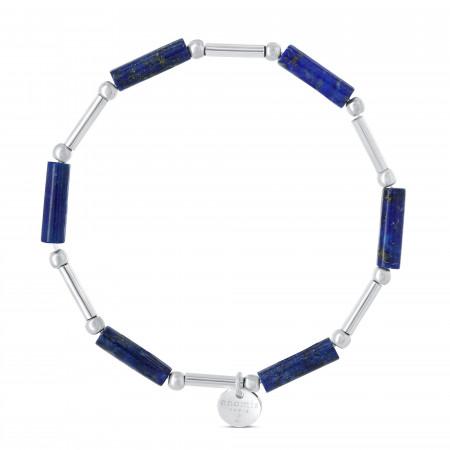 Bracelet cylindres lapis