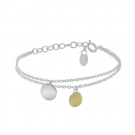 Sterling silver and yellow vermeil multi layer Aglaé bracelet
