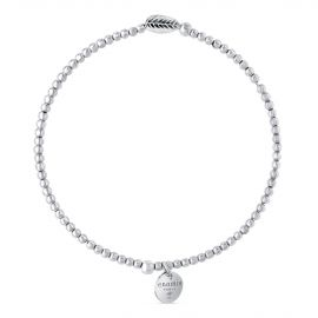 Bracelet élastique billes 2mm feuille hématite
