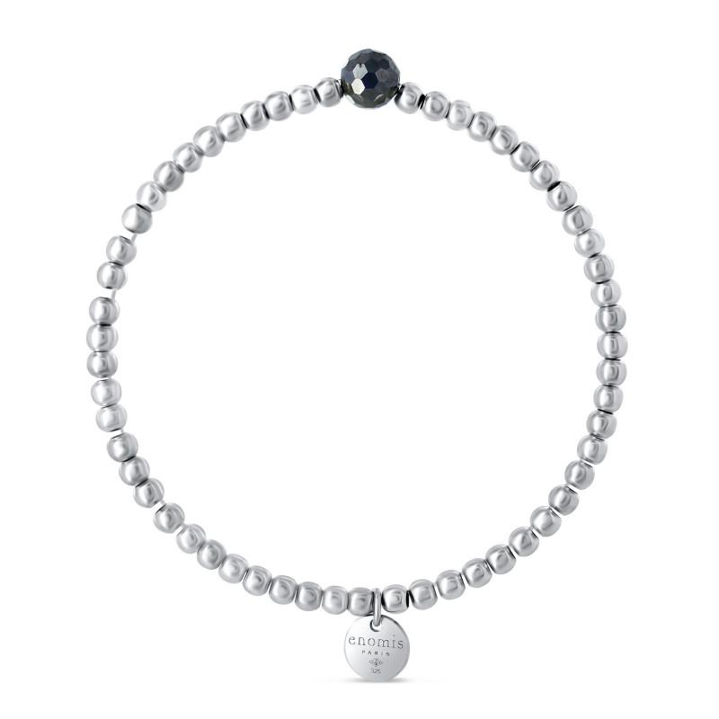 Bracelet élastique billes 2mm hématite ronde à facettes