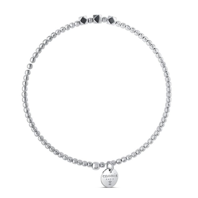 Bracelet élastique billes 2mm cube hématite
