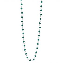 Collier queue de cochon agate verte