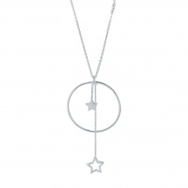 Star sterling silver long necklace