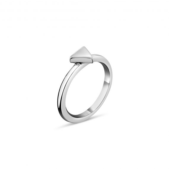 Silver triangle ring