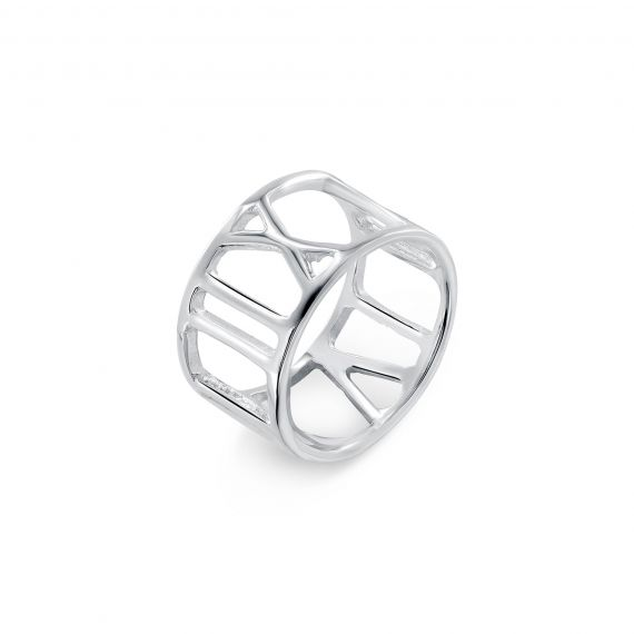 Sterling silver number ring