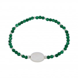 Mother-of-pearl sterling silver bracelet
