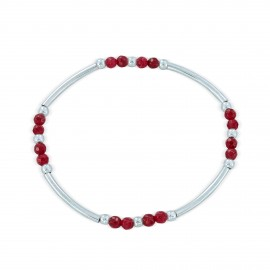 Sterling silver red agate bracelet