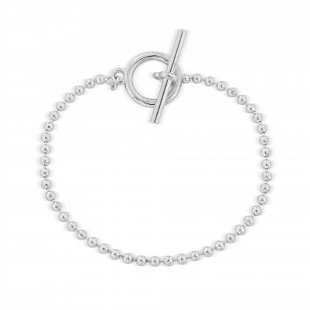 Sterling silver ball chain bracelet