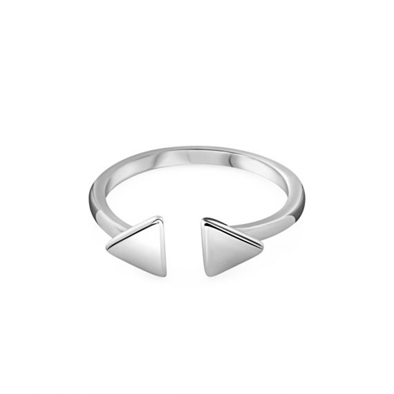 Bague Argent 925 duo triangle