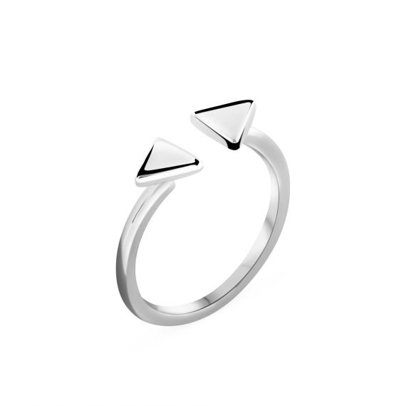Bague duo triangle