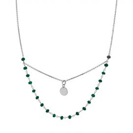 Green Aglaé sterling silver necklace