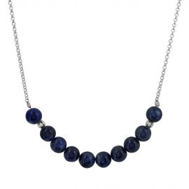 Sterling silver opal sodalite necklace