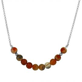 Collier Argent 925 opale brandy