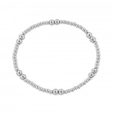 Cindy sterling silver elastic bracelet